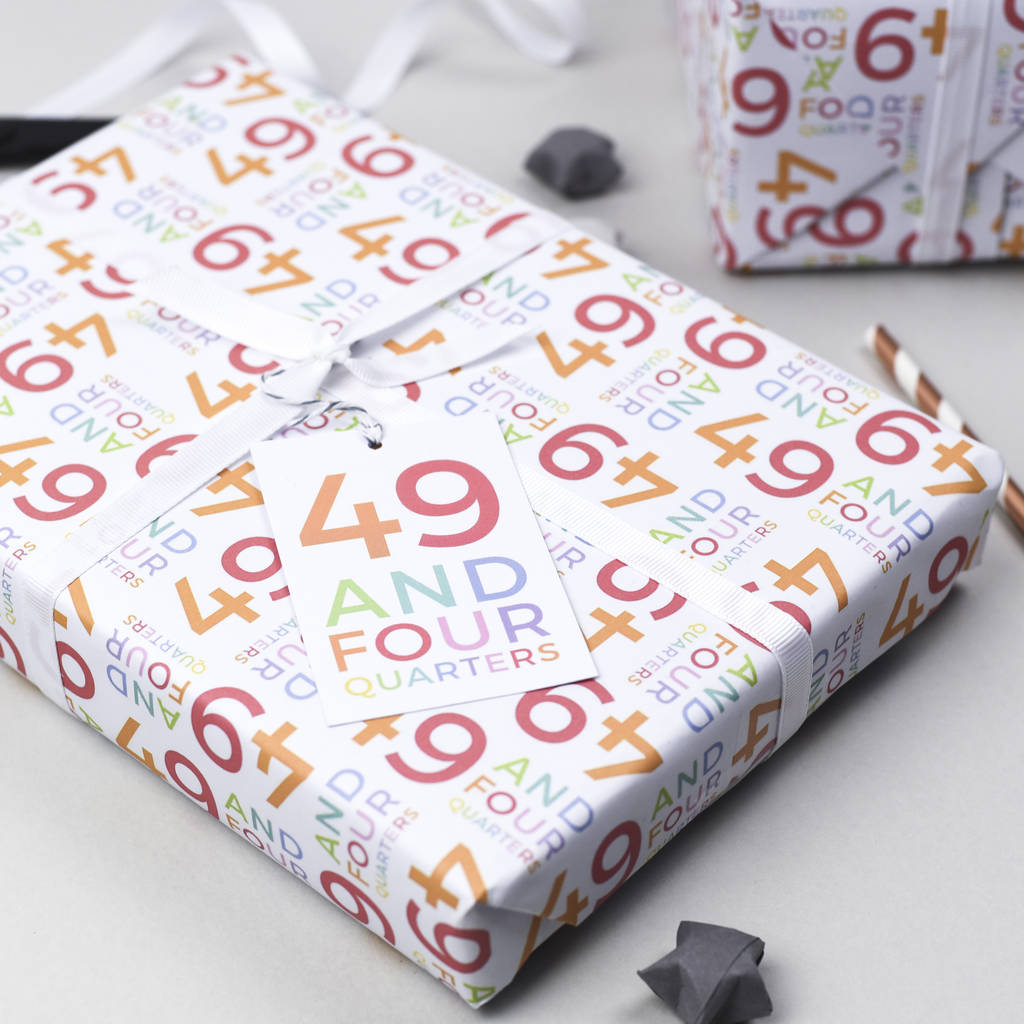 50th Birthday Wrapping Paper Set
