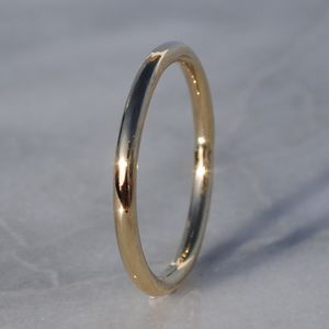 9ct Yellow Gold Halo Wedding Ring - rings