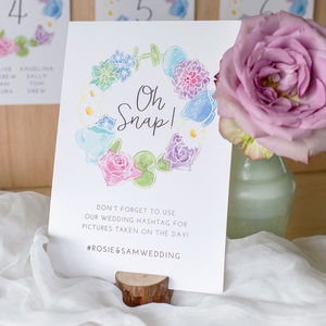 Wonderland Wedding Table Sign