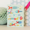 Fish Mini Greetings Card