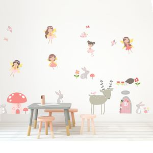 Fairies Fabric Wall Stickers
