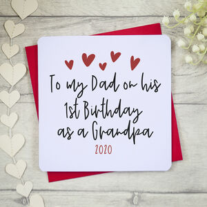 To Dad On 1st Birthday As A Grandad Card