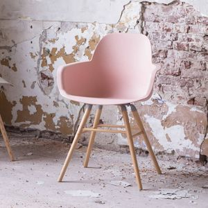 Scandinavian Blush Pink Dining Chair - dining room