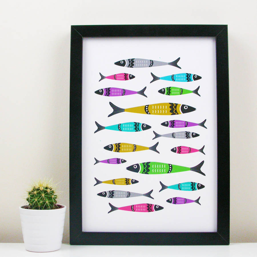 Sardine Kitchen Art Print By Moonglow Art