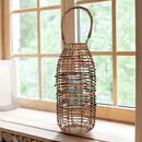 Natural Wicker Tall Candle Lantern