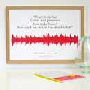 Personalised Lyric Soundwave Print