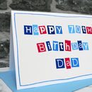 Personalised Mens 70th Birthday Card