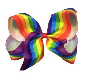Oversize Rainbow Hair Bow