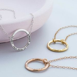 Personalised Full Circle Necklace - necklaces & pendants