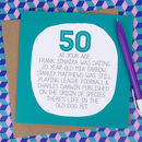 By Your Age… Funny 50th Birthday Card