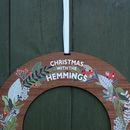 Alternative Wooden Holly Berry Design Christmas Wreath