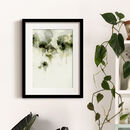 Green Abstract Floral Wall Art Print