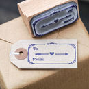 To…From..Heart Arrow Stamp