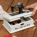 Personalised Vintage Sewing Box And Craft Kit