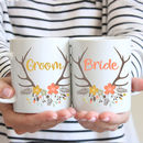 Bride And Groom Wedding Mugs