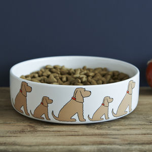Golden Cocker Spaniel Dog Bowl - dogs