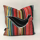 Ducks In A Row Velvet Cushion