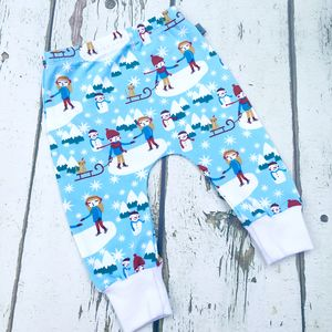 Lets Ice Skate Organic Baby Leggings, Christmas - clothing