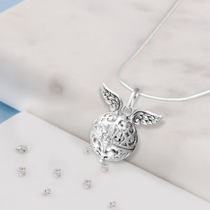 Angel Wings Memorial Treasure Ball Necklace