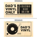 Personalised Vinyl Record Storage Box