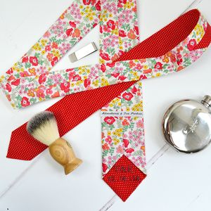 Handmade Mix And Match Personalised Tie : Red Rose - ties & tie clips