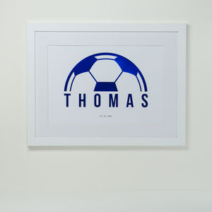 Personalised Foiled Football Print