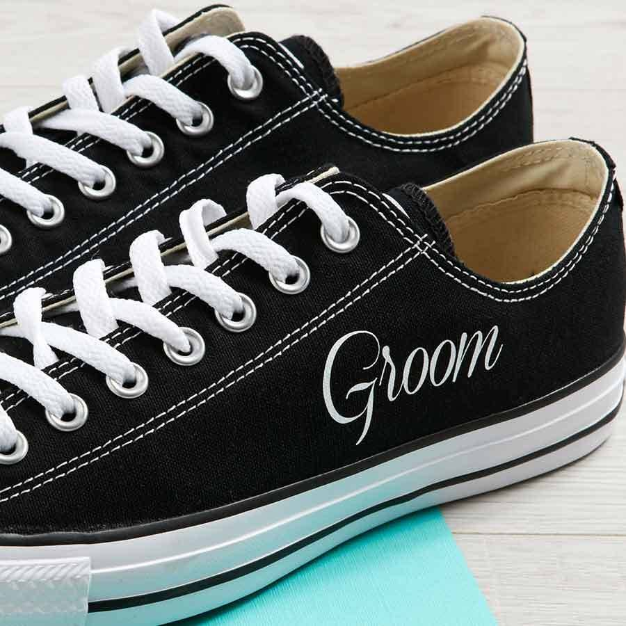 83f34d31a35 personalised groom wedding converse by yeah boo