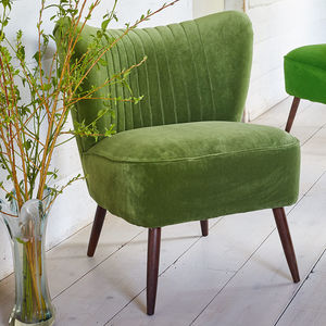 The New Bartholomew Cocktail Chair In Omega Velvet - furniture