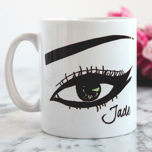 Personalised 'Just Winging It' Monochrome Mug - mugs