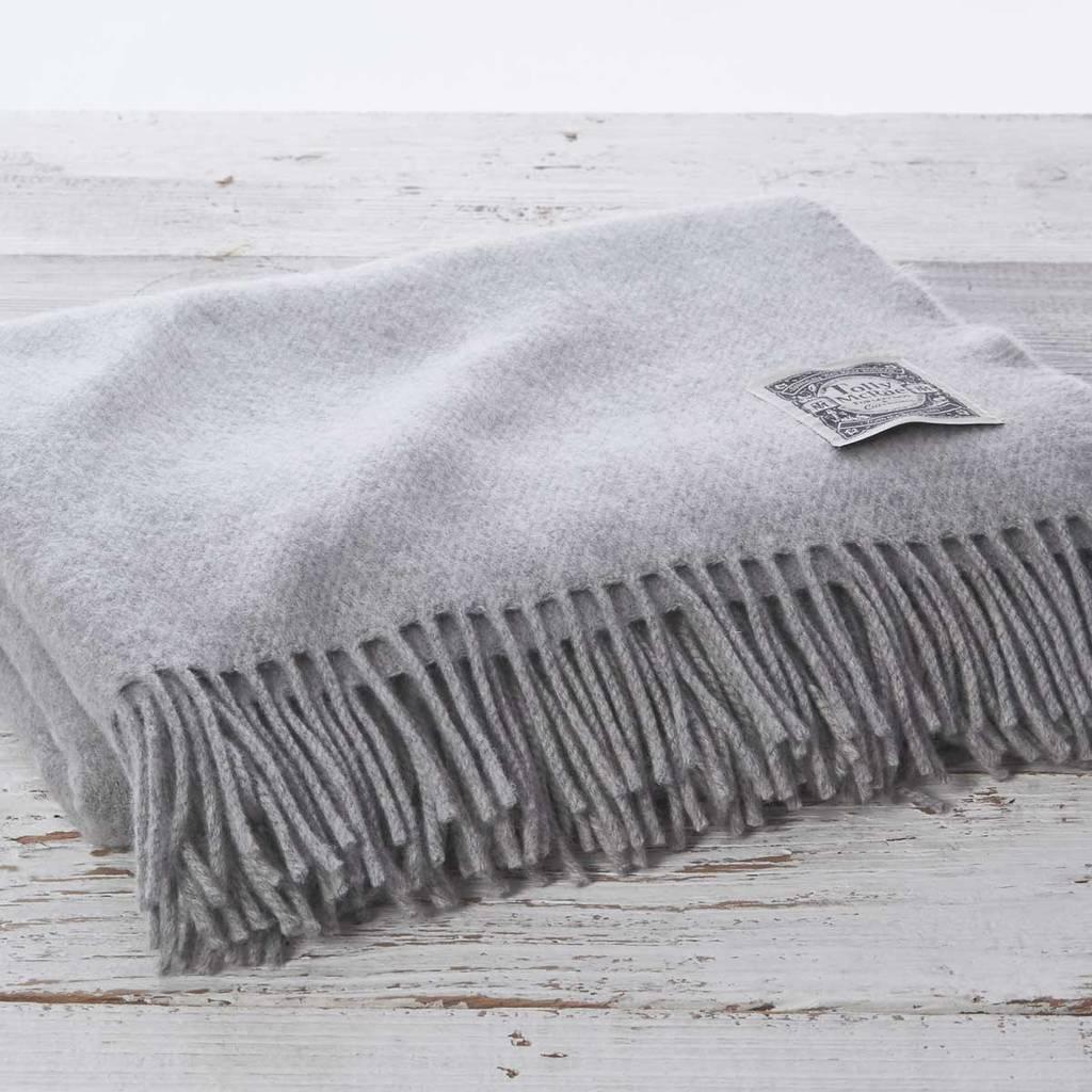Cashmere And Merino Luxury Mist Grey Throw