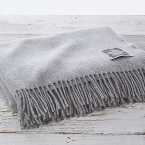 Cashmere And Merino Luxury Mist Grey Throw