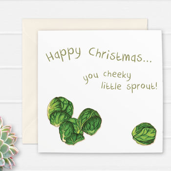 'Cheeky Little Sprout' Christmas Card