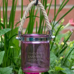 Personalised Hanging Pink Candle Holder - candles & home fragrance