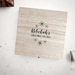 Personalised Snowflake Christmas Eve Box - christmas eve boxes