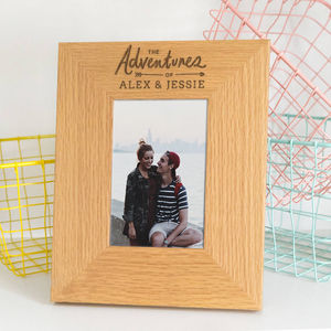 'The Adventures Of' Personalised Photo Frame - gifts for men
