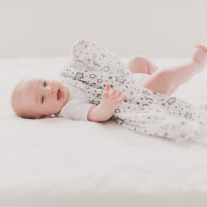 Monochrome Organic Twinkle Swaddle Muslin - gifts for babies