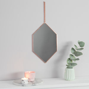 Diamond Copper Mirror - decorative accessories