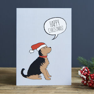 Pack Of Six Yorkshire Terrier Christmas Cards - christmas card packs