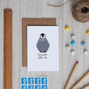 Welcome Little One Baby Penguin Card