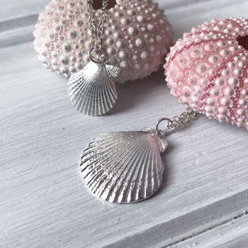 Silver Clam Shell Pendant