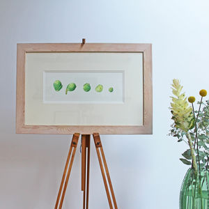 Brussels Sprouts Botanical Watercolour Illustration