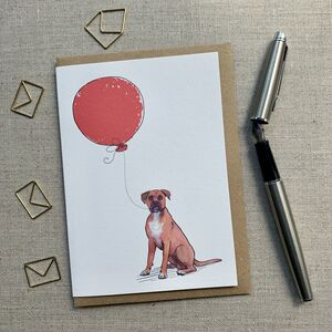 Personalised Boxer Birthday Card