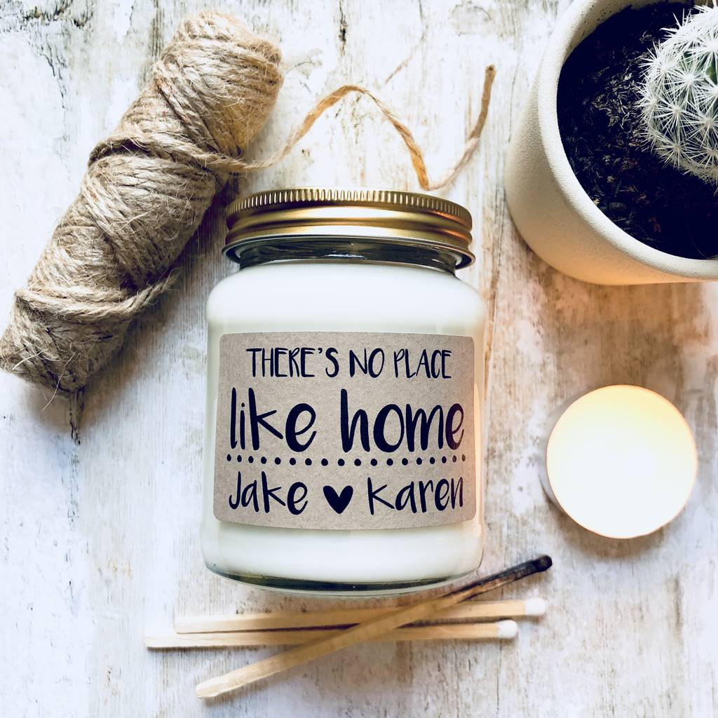 Personalised 'There's No Place Like Home' Soy Candle