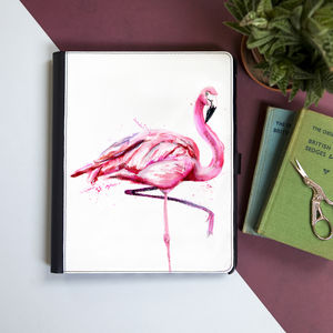 Inky Flamingo Tablet Case With Stand - womens