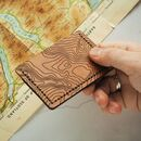 Custom Topography Credit Card Holder