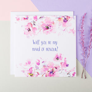 'Will You Be My Maid Of Honour?' Card - weddings sale