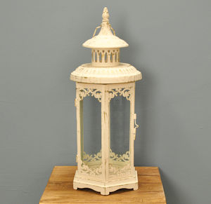 Abbotsbury Lantern In Cream - lights & lanterns