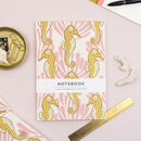 Seahorse Pattern Paperback Swiss Bound Notebook