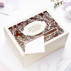 Personalised Vine Wedding Post Box - keepsake boxes