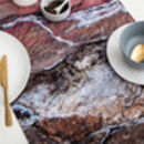 Abstract Textured Cotton Table Runner 'Earth'